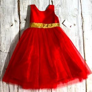 Kid's Dream Brand New With Tags Red Sequin Dress